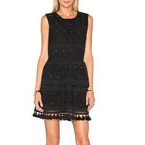 Anine Bing Black Tassel Lace Dress A18
